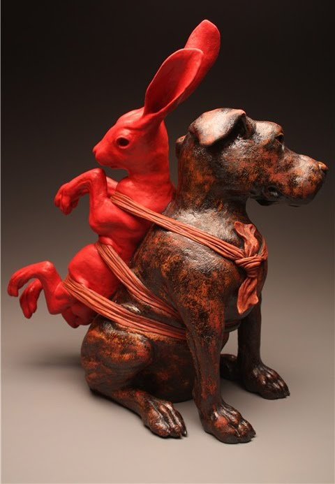 2DogwithHare2008