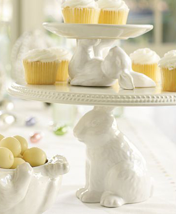 Pottery Barn: bunny dessert stands