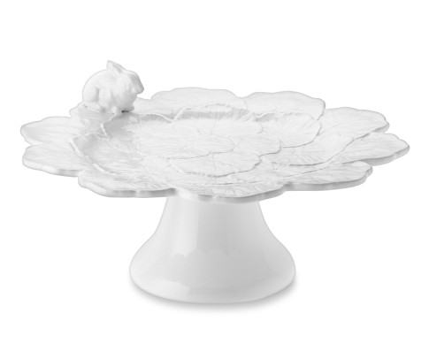 Williams-Sonoma: Figural Easter Bunny Cake Stand with Leaves & Bunny