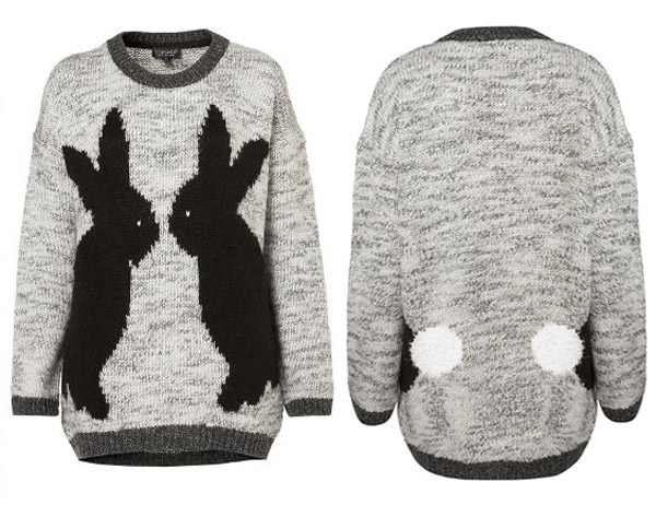 Topshop Mirror Bunnies sweater