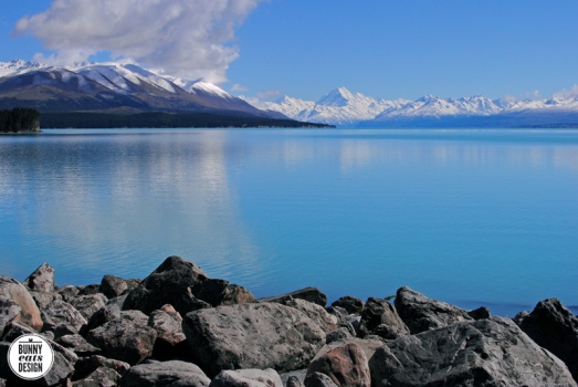 Lake Pukaki with Mt Cook in the distance