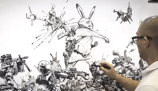 kim-jung-gi-giant-rabbit