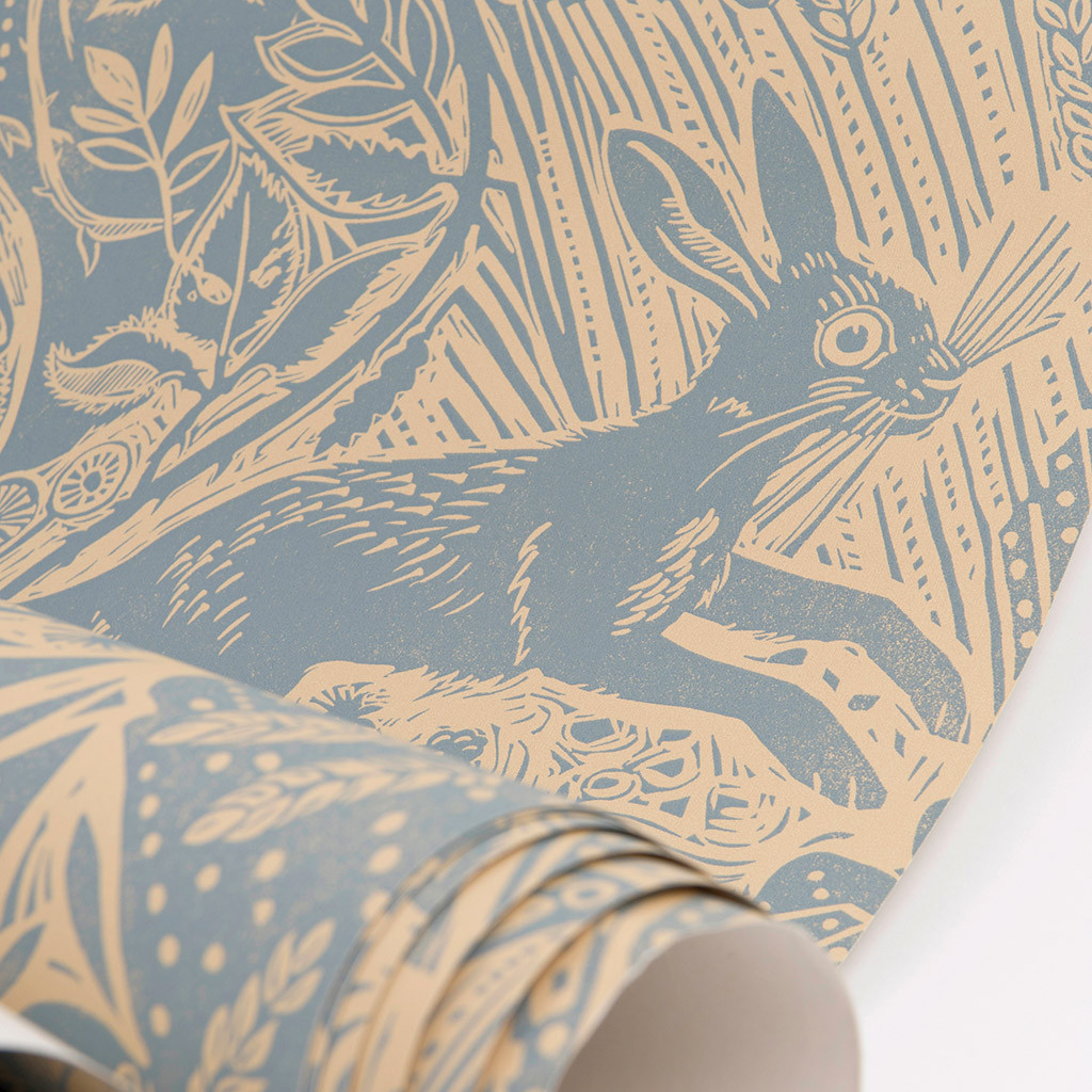 Mark_Hearld_Harvest_Hare_Wallpaper_Blue_Slate_1024x1024