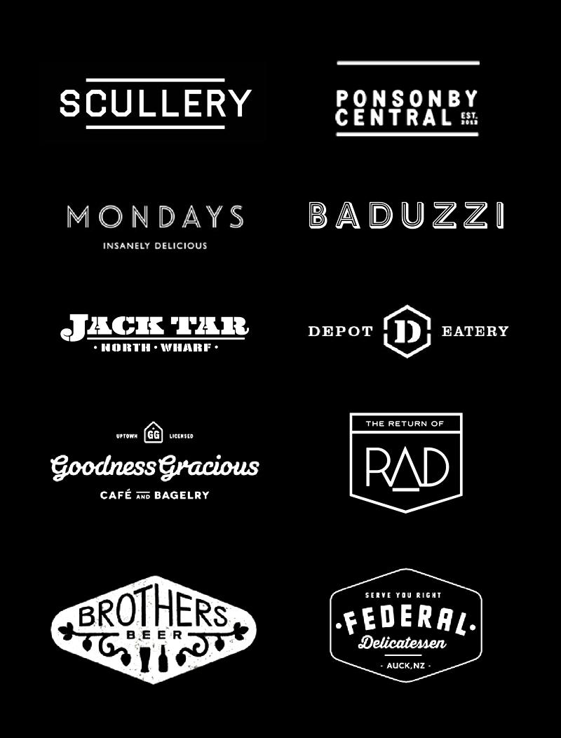 Hipster logos of Auckland | Bunny Eats Design